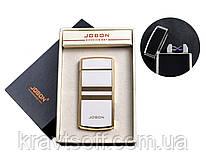 USB зажигалка с двумя перекрестными молниями и счетчиком использования (Электроимпульсная) №4780-3