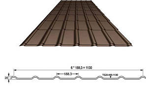 Металлочерепица Ruukki Decorrey Grand PE 0,45мм
