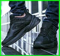 Мужские Кроссовки Nike M2K Tekno Чёрные Найк Кожа (размеры: 44,45,46) Видео Обзор