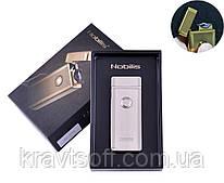Электроимпульсная зажигалка в подарочной упаковке Nobilis (USB) №XT-4775 Silver