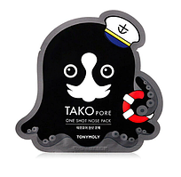 Патч от черных точек для носа Tony Moly Tako Pore One Shot Nose Pack