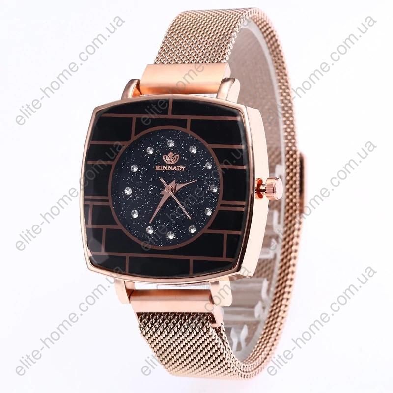 """Жіночі наручні годинники на магнітній застібці """"Rinnady"""" (золотистий)"""