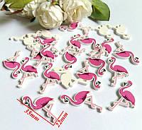 Деревянный декор Фламинго 35*22 мм