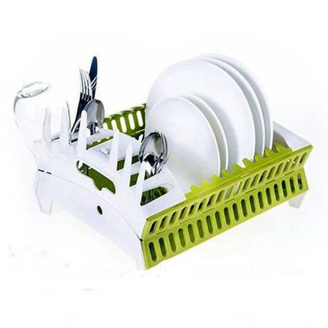 Опт Органайзер для посуды collapsible compact dish rack, фото 2