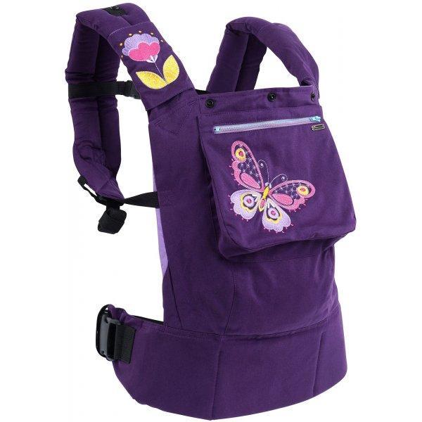 Эрго рюкзак КЛАССИК I Love Mum фиолетовые бабочки