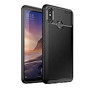 Чехол Carbon Case Xiaomi Mi Max 3 Черный