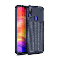 Чехол Carbon Case Xiaomi Redmi Note 7 Pro Синий