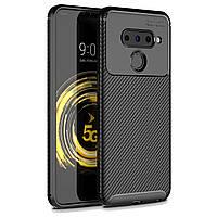 Чехол Carbon Case LG V50 ThinQ Черный