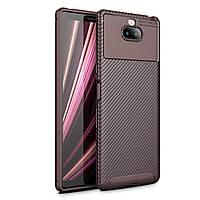 Чехол Carbon Case Sony Xperia 10 Коричневый