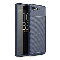 Чехол Carbon Case Sony Xperia Ace Синий