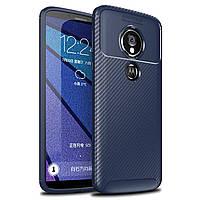 Чехол Carbon Case Motorola G6 Play / E5 Синий