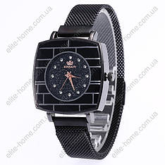 """Жіночі наручні годинники на магнітній застібці """"Rinnady"""" (чорний)"""
