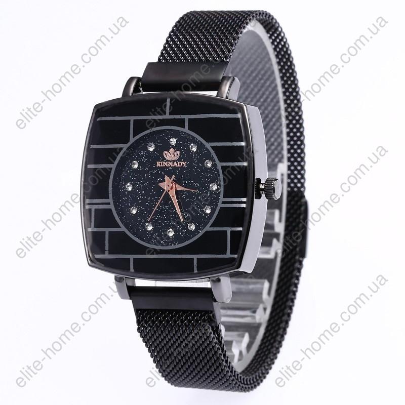 """Женские наручные часы на магнитной застежке """"Rinnady"""" (черный)"""