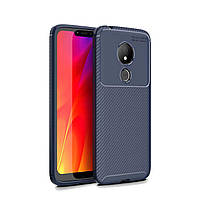 Чехол Carbon Case Motorola G7 Power Синий