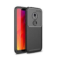 Чехол Carbon Case Motorola G7 Play Черный