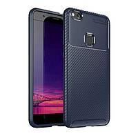 Чехол Carbon Case Huawei P10 Lite / Nova Lite Синий