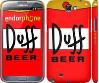 "Чехол на Samsung Galaxy Note 2 N7100 Duff ""2814c-17"""