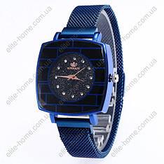 """Жіночі наручні годинники на магнітній застібці """"Rinnady"""" (синій)"""