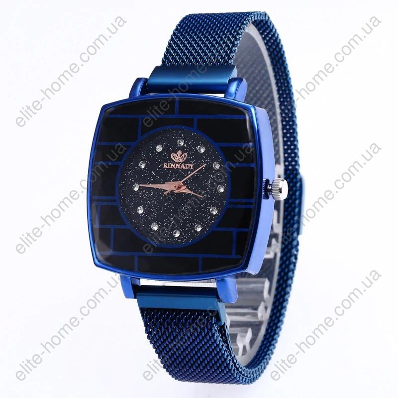 """Женские наручные часы на магнитной застежке """"Rinnady"""" (синий)"""