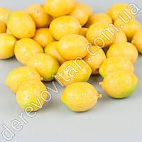 Лимон декоративный, 2.5×3.5 см, 40 шт.