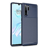 Чехол Carbon Case Huawei P30 Pro Синий