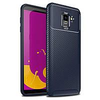 Чохол Carbon Case Samsung J600 Galaxy J6 2018 Синій