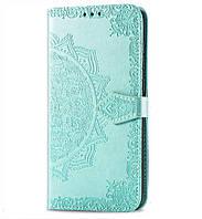 Кожаный чехол (книжка) Art Case с визитницей для Xiaomi Redmi Note 7 / Note 7 Pro / Note 7s Бирюзовый