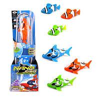 Интерактивная роборыбка Nano Fish JH6601 оранжевая. Ассортимент цветов