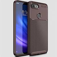 Чохол Carbon Case Xiaomi Mi 8 Lite Коричневий