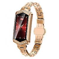 Умные часы фитнес браслет Finow B78 с цветным дисплеем и тонометром (Золотой), фото 1