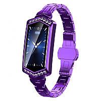 Умные часы фитнес браслет Finow B78 с цветным дисплеем и тонометром (Фиолетовый)