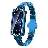 Розумні годинник фітнес браслет Finow B78 з кольоровим дисплеєм і тонометром (Синій)