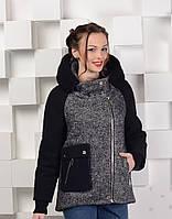 Пальто-куртка твидовое