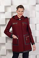 Пальто ровное с капюшоном