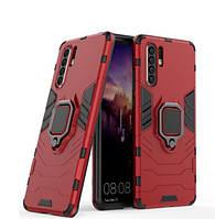 Ударопрочный чехол Transformer Ring под магнитный держатель для Huawei P30 Pro Красный / Dante Red