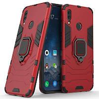 Ударопрочный чехол Transformer Ring под магнитный держатель для Huawei P Smart (2019) Красный / Dante Red