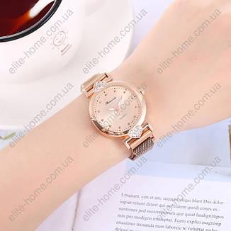 """Жіночі наручні годинники на магнітній застібці """"Rinnandy"""" (золотистий), фото 2"""