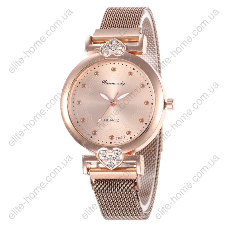 """Жіночі наручні годинники на магнітній застібці """"Rinnandy"""" (золотистий)"""