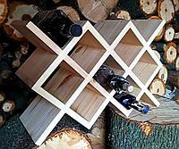 """Винный стеллаж """"Марго"""",дерево, бесцветный лак, орех, белый, черный,  венге, серый., фото 1"""