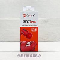 Наушники Celebrat C8 (Red)