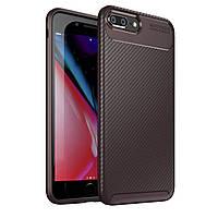 Чехол Carbon Case Apple iPhone 7 Plus / iPhone 8 Plus Коричневый
