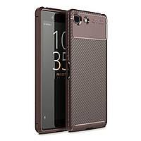 Чехол Carbon Case Sony Xperia Ace Коричневый