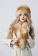 Меховой воротник из лисы