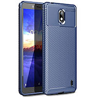 Чехол Carbon Case Nokia 1 Plus Синий