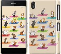 """Чехол на Sony Xperia Z2 D6502/D6503 Йога морских свинок """"2811c-43"""""""