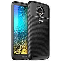 Чехол Carbon Case Motorola E5 Plus Черный