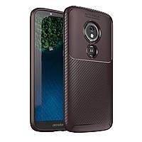 Чехол Carbon Case Motorola E5 Play Коричневый
