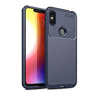 Чехол Carbon Case Motorola P30 Play Синий