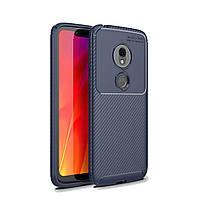 Чехол Carbon Case Motorola G7 Play Синий