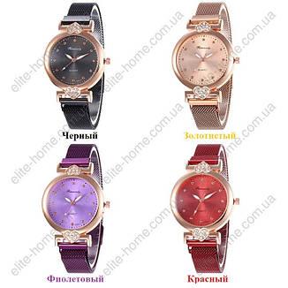"""Женские наручные часы на магнитной застежке """"Rinnandy"""" (бордовый), фото 2"""